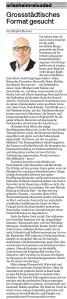Grossstädisches Format gesucht BaZ 20.05.2015