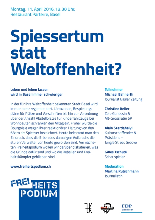 Flyer Freiheitspodium Spiesser 11.April 2016