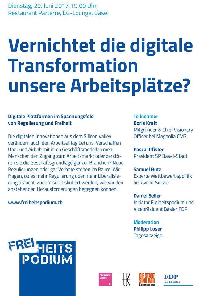 Freiheitspodium Digitalisierung