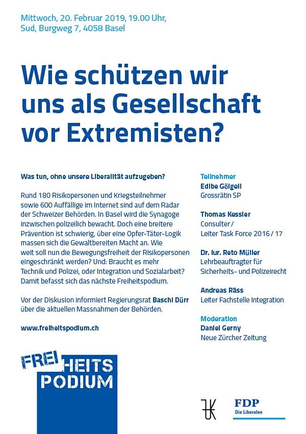 Freiheitspodium Gefährder 20 Februar 2019